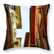 Old Street In Nice Throw Pillow