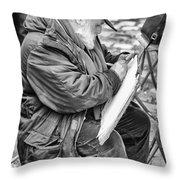 Old Street Painter Throw Pillow