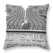 Old Street Sint Maarten In Sepia Throw Pillow