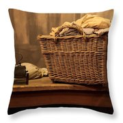 Old Style Laundry Throw Pillow