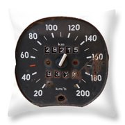 Old Tachometer Throw Pillow