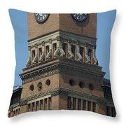 Old Tacoma City Hall Throw Pillow