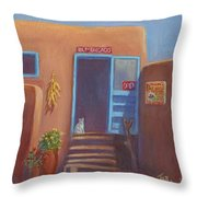 Old Taos Grocery Throw Pillow