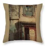 Old Tavern Throw Pillow