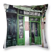 Old Tavern-madrid Throw Pillow by Tomas Castano