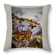 Old Temples Throw Pillow