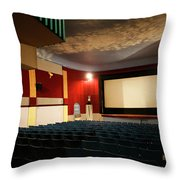 Old Theater Interior 1 Throw Pillow by Marilyn Hunt