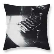 Old Time Communication Throw Pillow