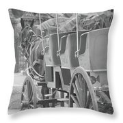 Old Time Horse And Buggy Throw Pillow