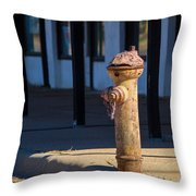 Old Time Hydrant Throw Pillow