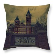 Old Time Samford Hall Throw Pillow