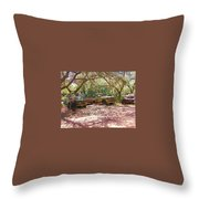 Old Time Trucks Throw Pillow