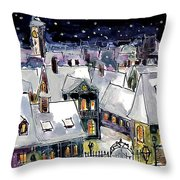Old Time Winter Throw Pillow