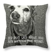 Old Timer Quote Throw Pillow