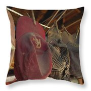 Old Timer's Garage Throw Pillow