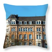 old Town buildings in Aachen, Germany Throw Pillow