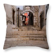 Old Town Entrance Throw Pillow