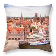 Old Town Gdansk Throw Pillow
