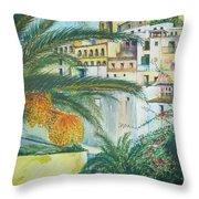 Old Town Ibiza Throw Pillow