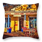 Old Town Ice Cream Parlor Throw Pillow