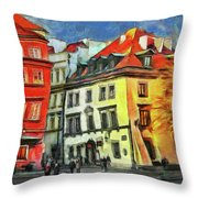 Old Town In Warsaw # 27 Throw Pillow