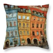 Old Town In Warsaw # 32 Throw Pillow