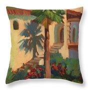 Old Town La Quinta Palm Throw Pillow