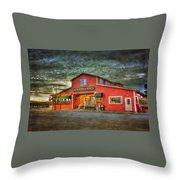 Old Town Mall Bandon Throw Pillow