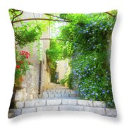 Old Town Of Provence Street Throw Pillow