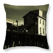 Old Town Sacramento California Cityscape Throw Pillow