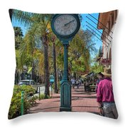 Old Town Santa Barbara Throw Pillow