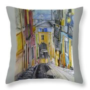 Old Town Streets Throw Pillow
