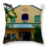 Old Town Theater Throw Pillow