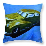 Old Toy Car Throw Pillow