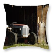 Old Tractor 2 Throw Pillow