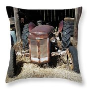 Old Tractor 4 Throw Pillow