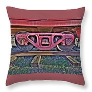 Old Train Wheels Throw Pillow