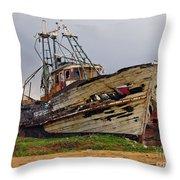 Old Trawler Throw Pillow
