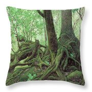 Old Tree Root Throw Pillow