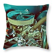 Old Truck Engine Throw Pillow