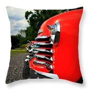 Old Truck Grille Throw Pillow