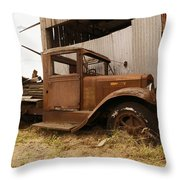 Old Truck In Old Forgotten Places Throw Pillow