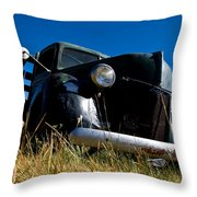 Old Truck Low Perspective Throw Pillow