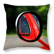 Old Truck Mirror Reflection Throw Pillow