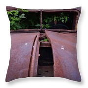 Old Truck New Vines Throw Pillow