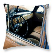 Old Truck Rusty Throw Pillow