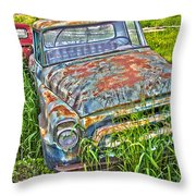 001 - Old Trucks Throw Pillow