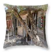 Old Tucson Barber Throw Pillow