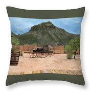 Old Tucson Throw Pillow