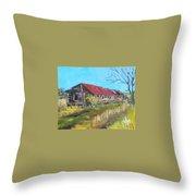 Old Turkey House Throw Pillow